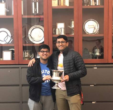 Swapnil Agrawal, left, and Advait Ramanan at Dartmouth