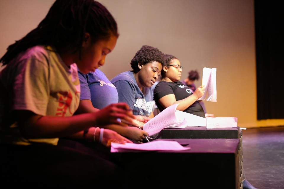 Students in the Maymester workshop class from Spelman and UGA worked during spring semester to flesh out script, staging and music. Image by Shannah Montgomery