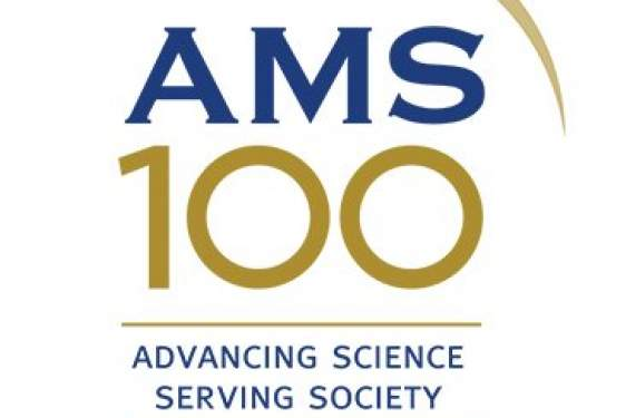 AMS logo in blue letters and gold numbers