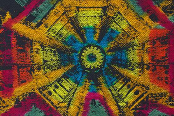 color tapestry based on CERN