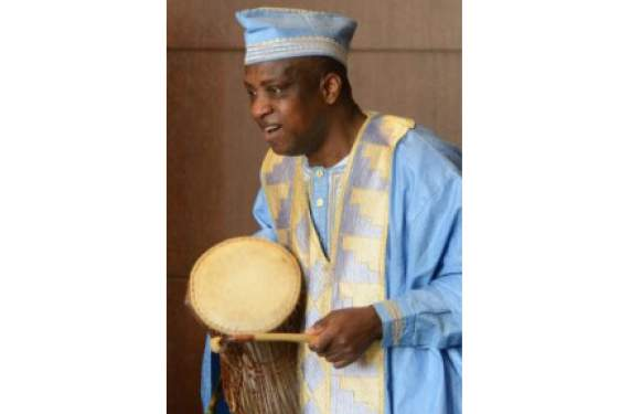 man with hand drum