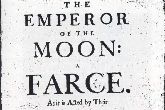 old letter graphic of play title The Emperor of the Moon