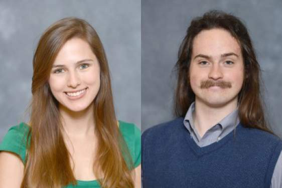 two students, headshots, woman and man