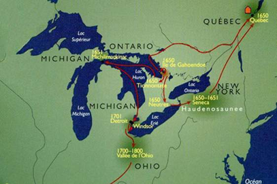 map of great lakes region