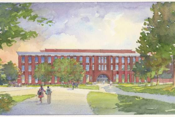 rendering of a new building