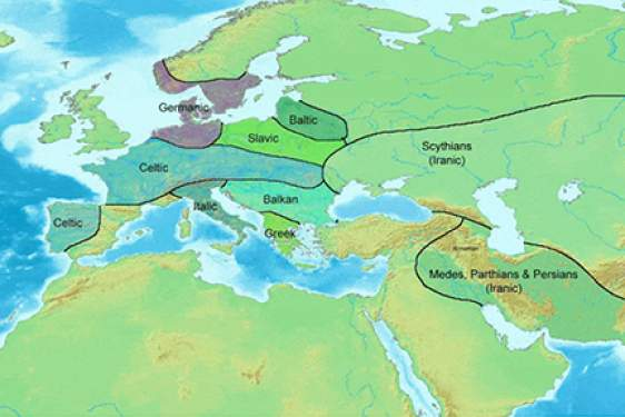 map of European migrations