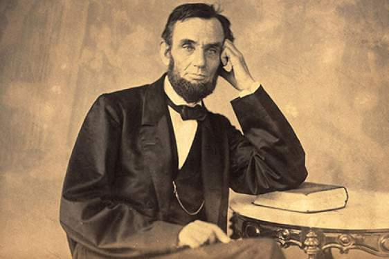 albumen portrait of Abraham Lincoln