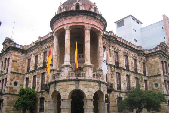 photo of Andean city hall building
