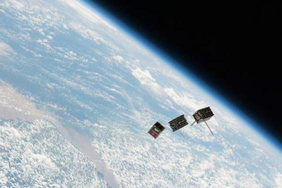 satellites in space, with Earth