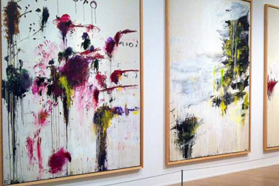 Cy Twombly paintings in gallery