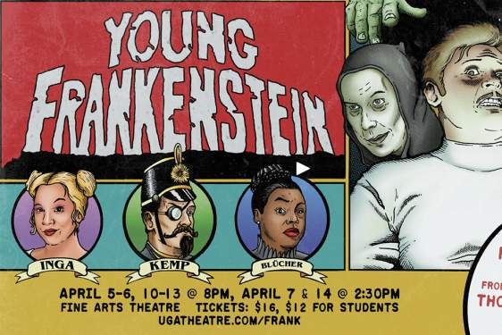 graphic with Young Frankenstein, images and dates