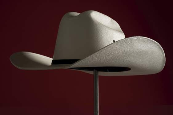 photo of a cowboy hat on a stand
