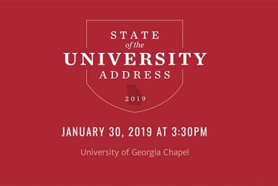 white text graphic on red with state of Georgia shape