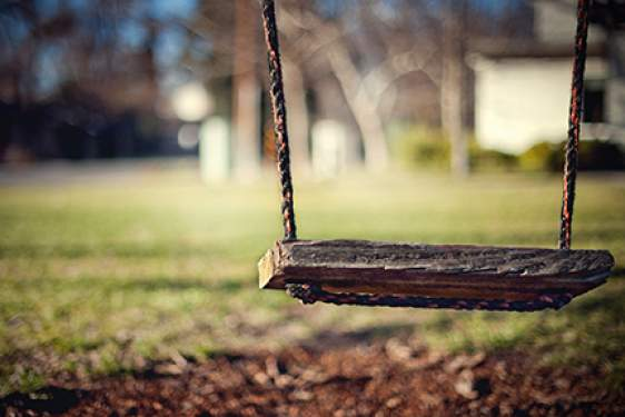 photo of empty swing